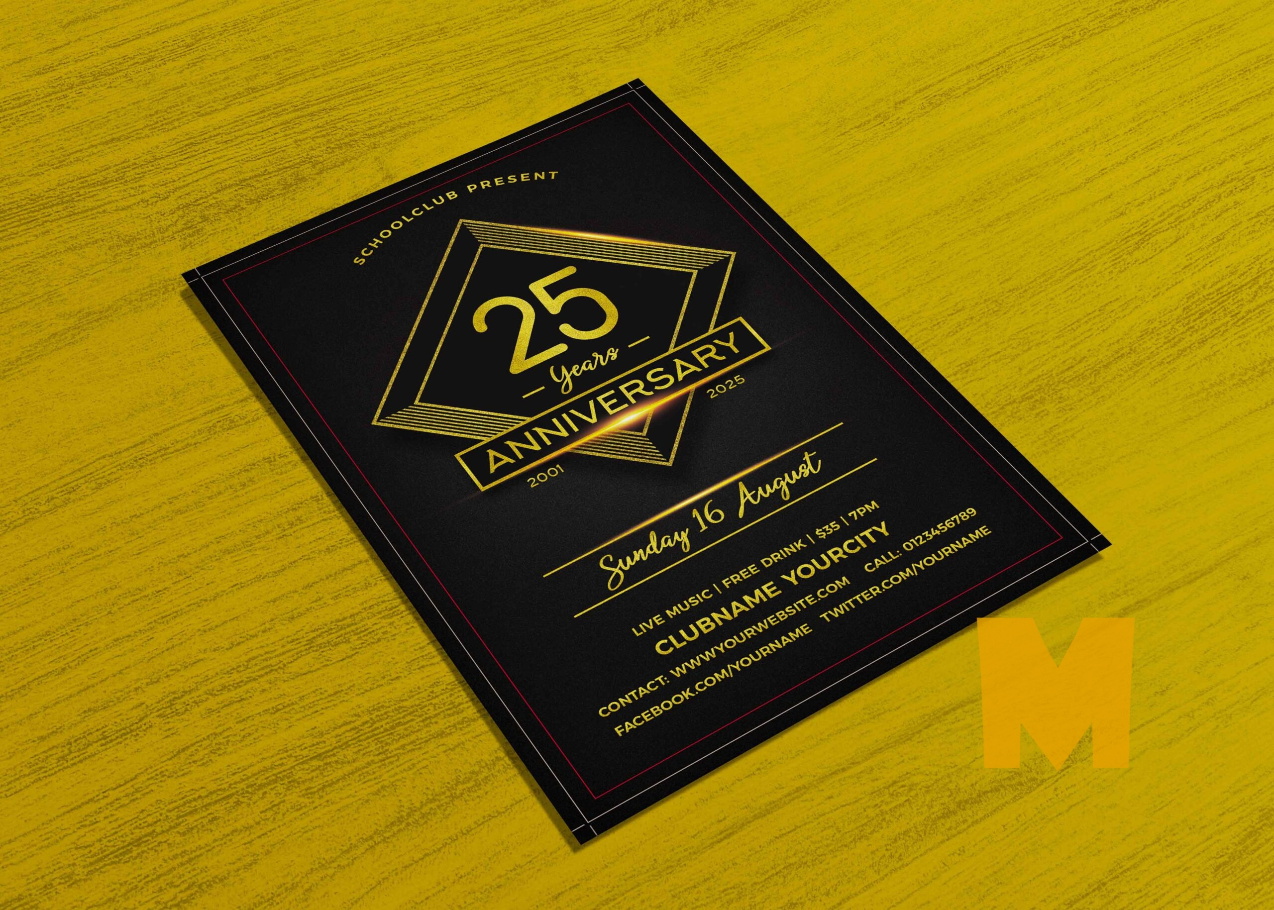 Anniversary Event Flyer Template 2021