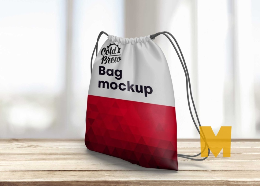 Free Drawstring Institute Bag Mock-Up