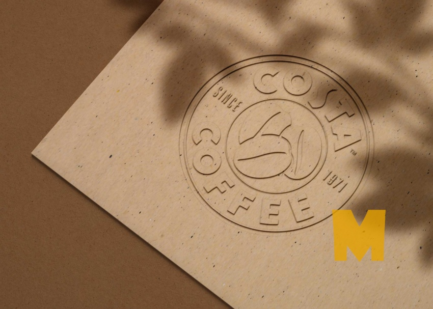 Free Embossed Logo Craft Paper Mockup