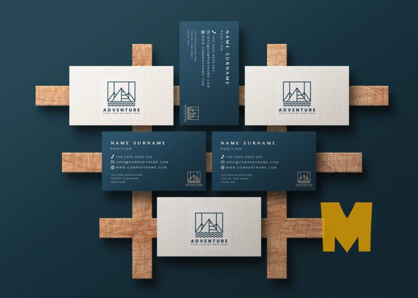 Free Group Business Card Psd Mockup