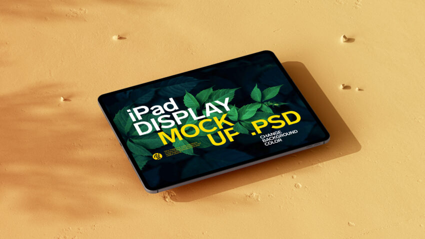 Free Old Flor ipad Display Mockup