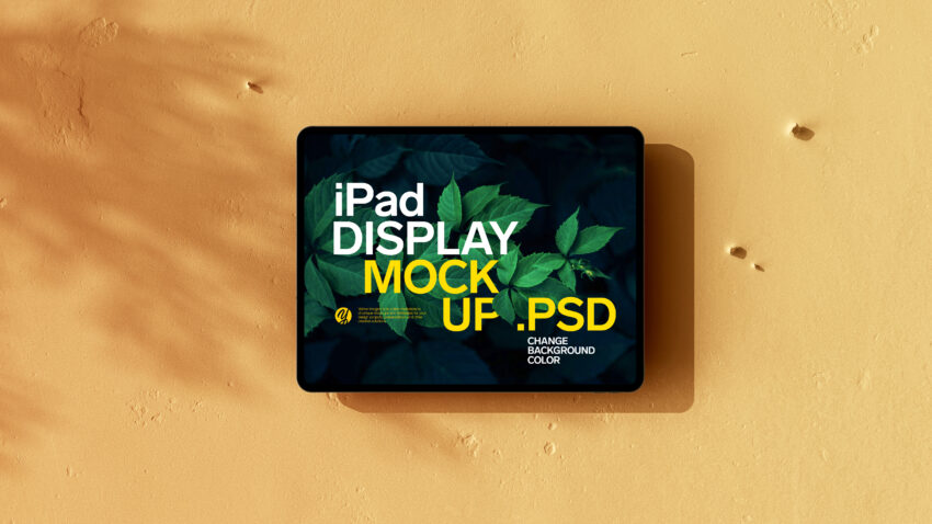 Free Old Wall ipad Display Mockup