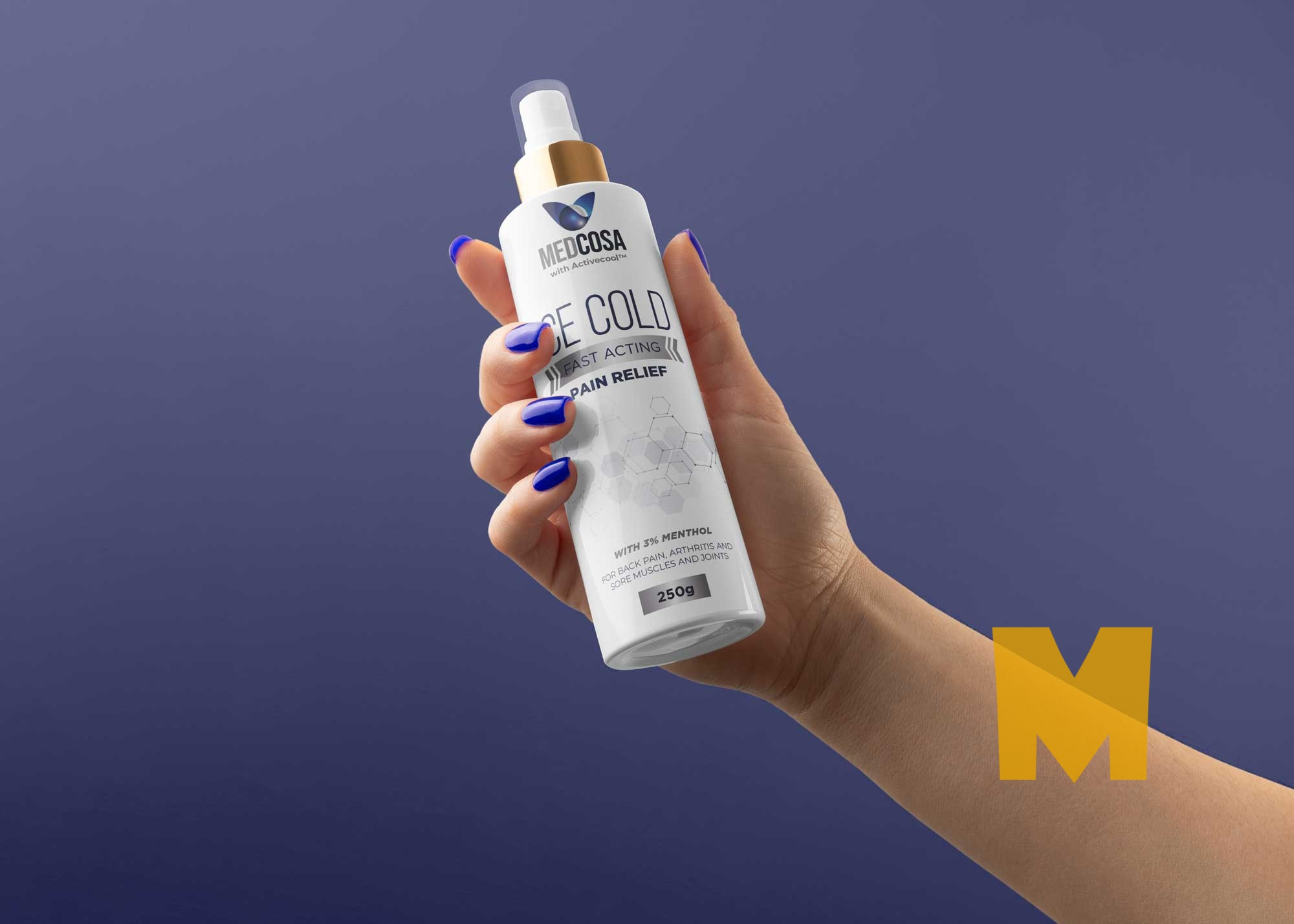Free Pain Relief Spray Bottle Mockup