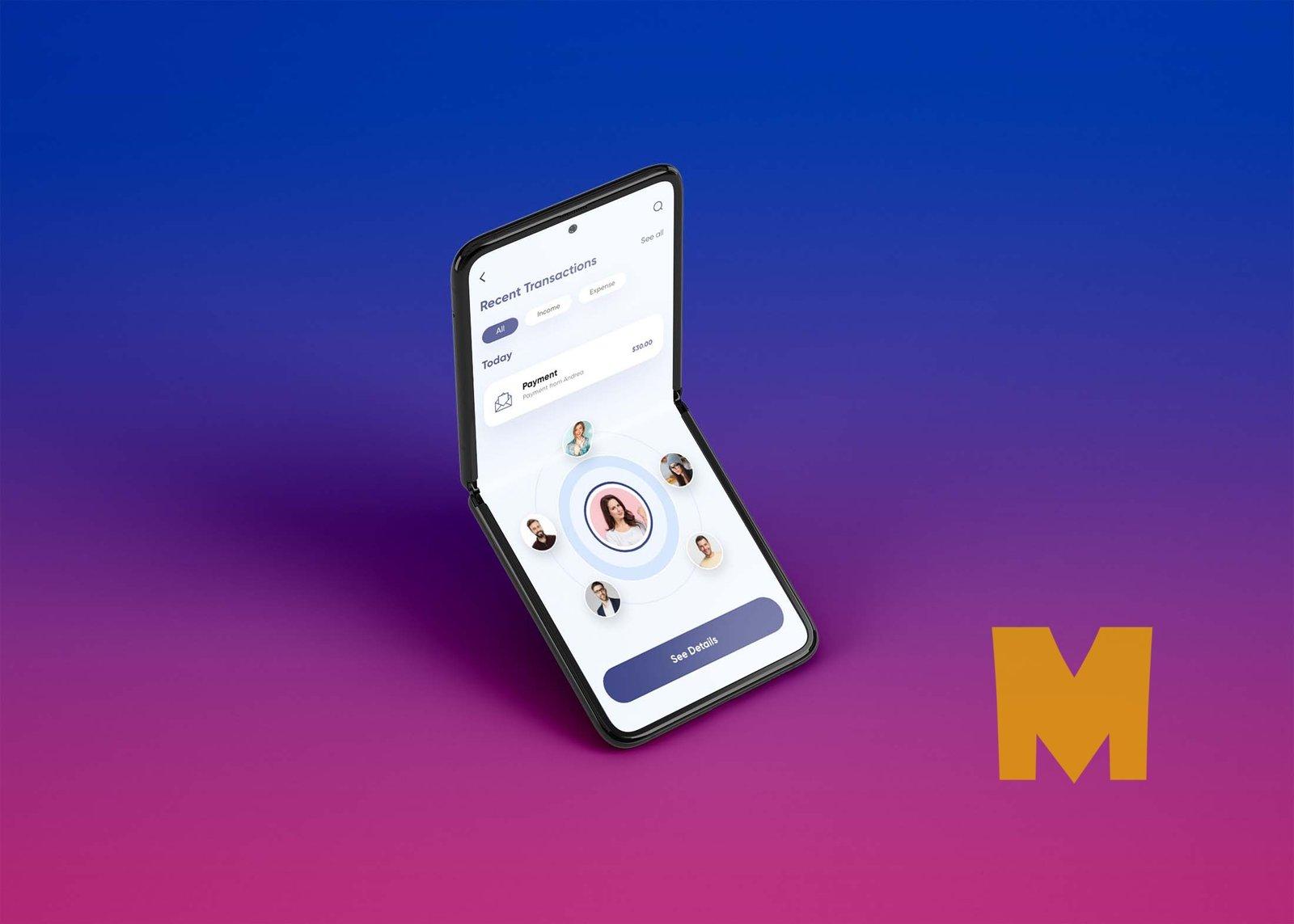 Free Samsung Galaxy Z Flip Mockups