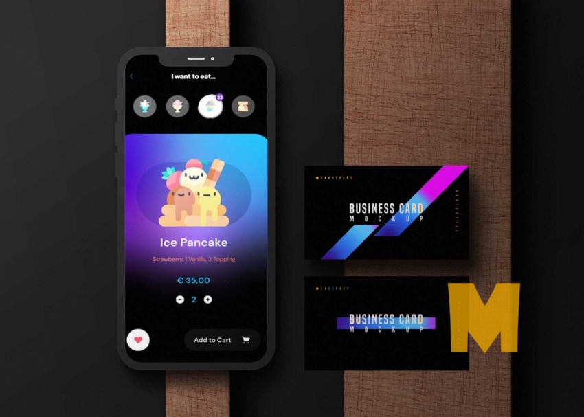 Free Smartphone & Business Card Mock-up