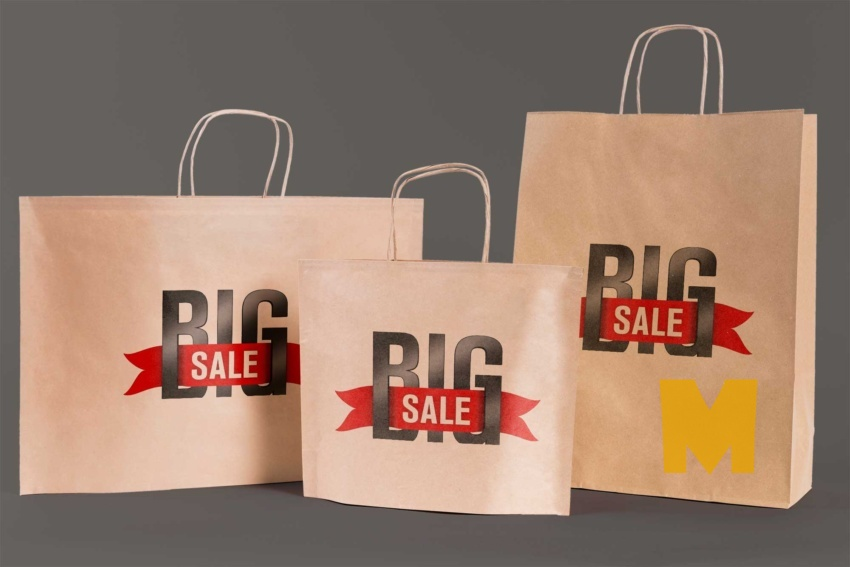 Free Big Sale Bag Mockup