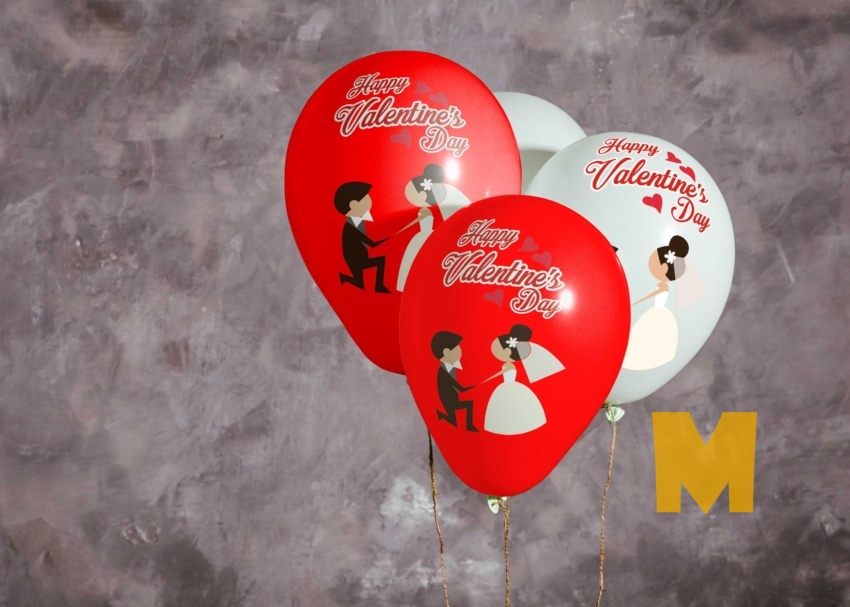 Free Cool Printed Balloon Mockup