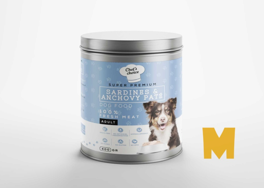 Free Dog Food Can Mockup
