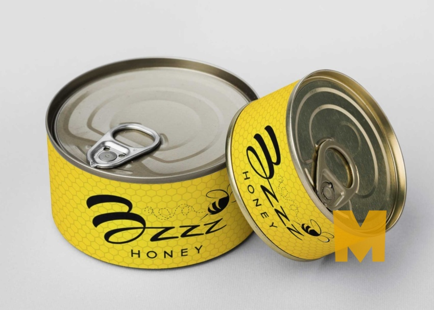Free Honey Can Mockup
