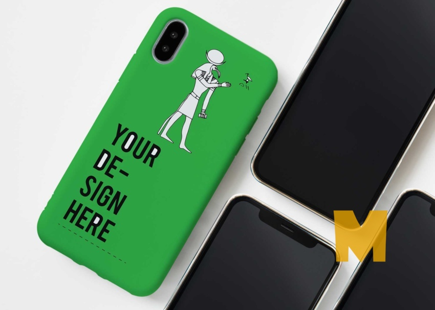 Free Mobile Back Screen Case Mockup