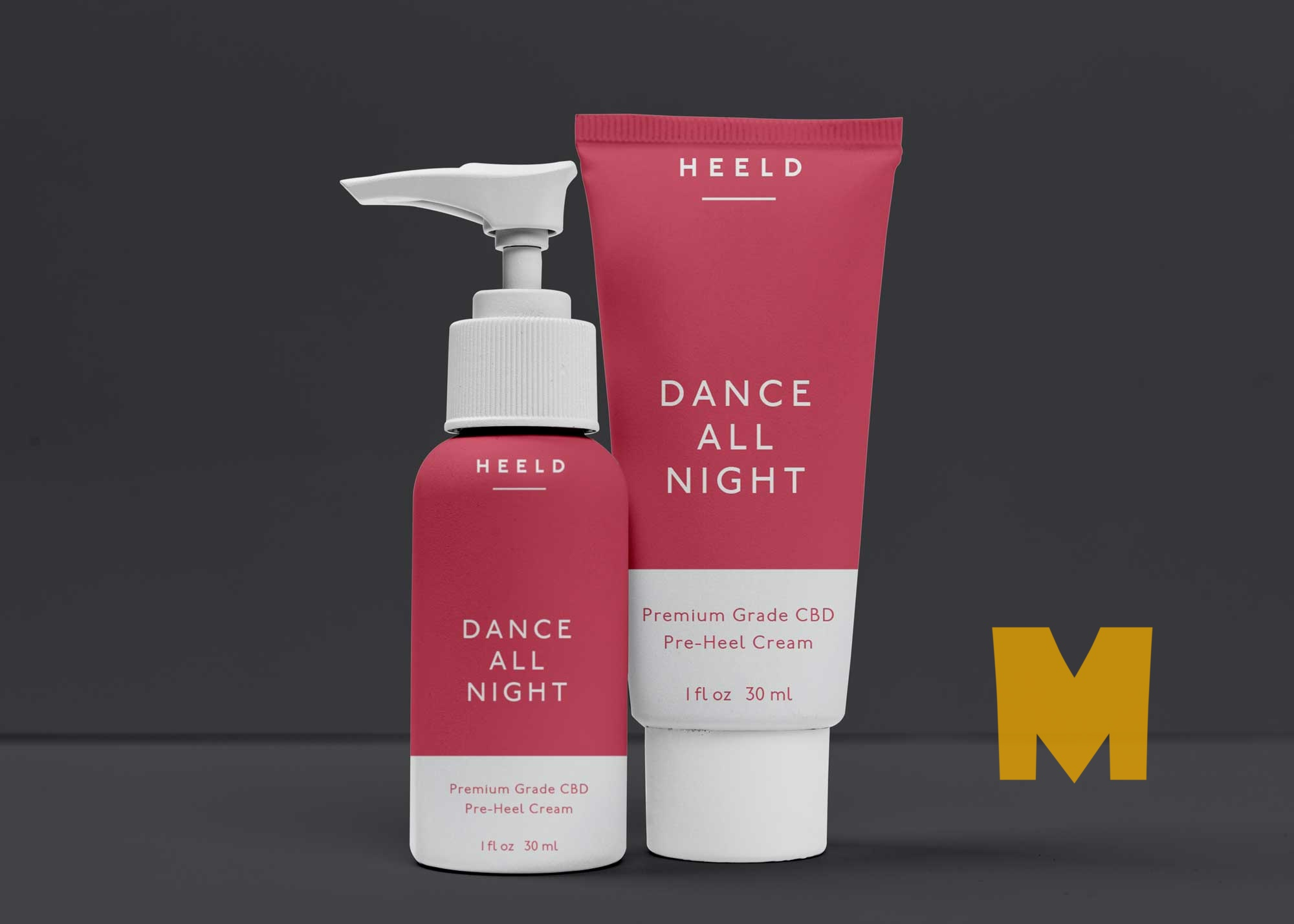 Free Night Cosmetic Product Mockup