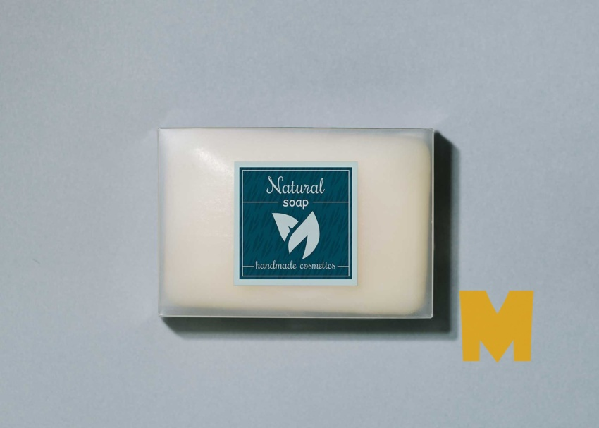 Free Organic Soap Label Mockup
