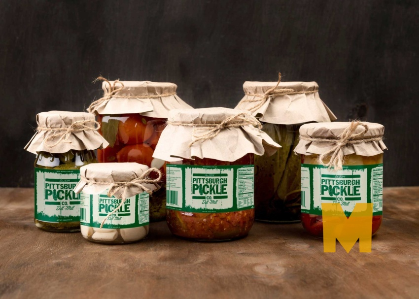 Free Pickle Jar Label Mockup