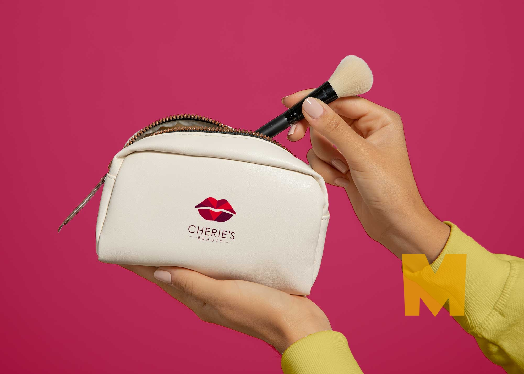 Free Small Makeup Pouch Mockup