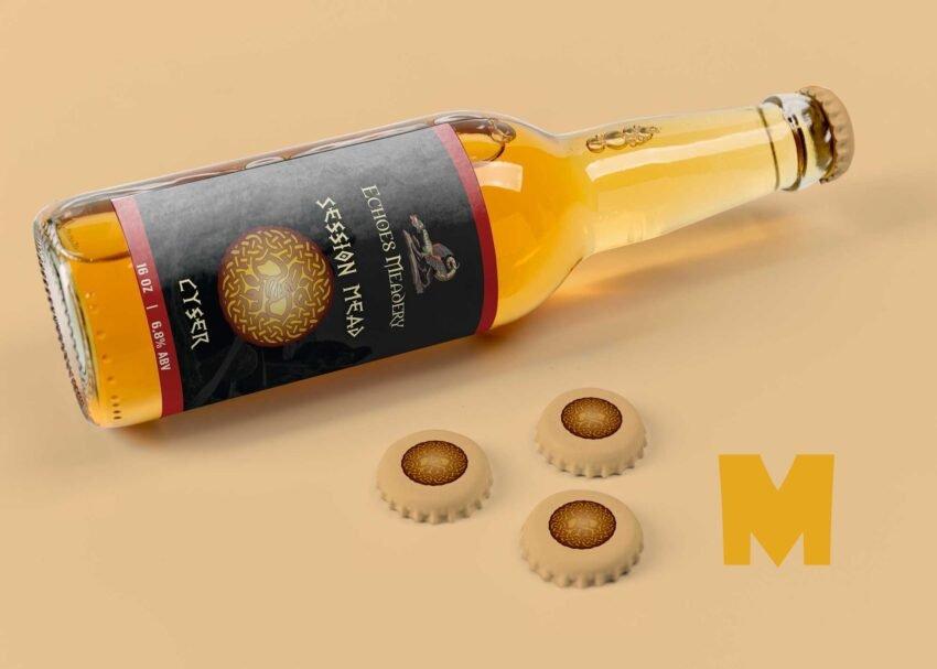 Free Trade Beer Bottle Mockup
