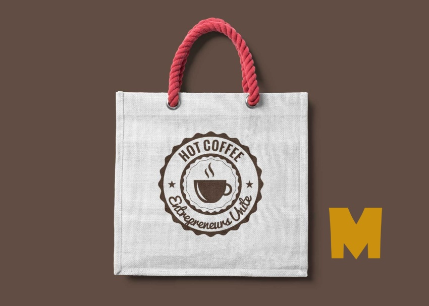 Free Coffee Tote Bag Mockups