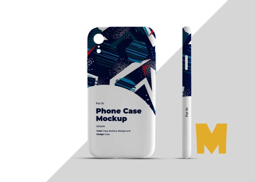 Free Mobile Case Back Side Mockup