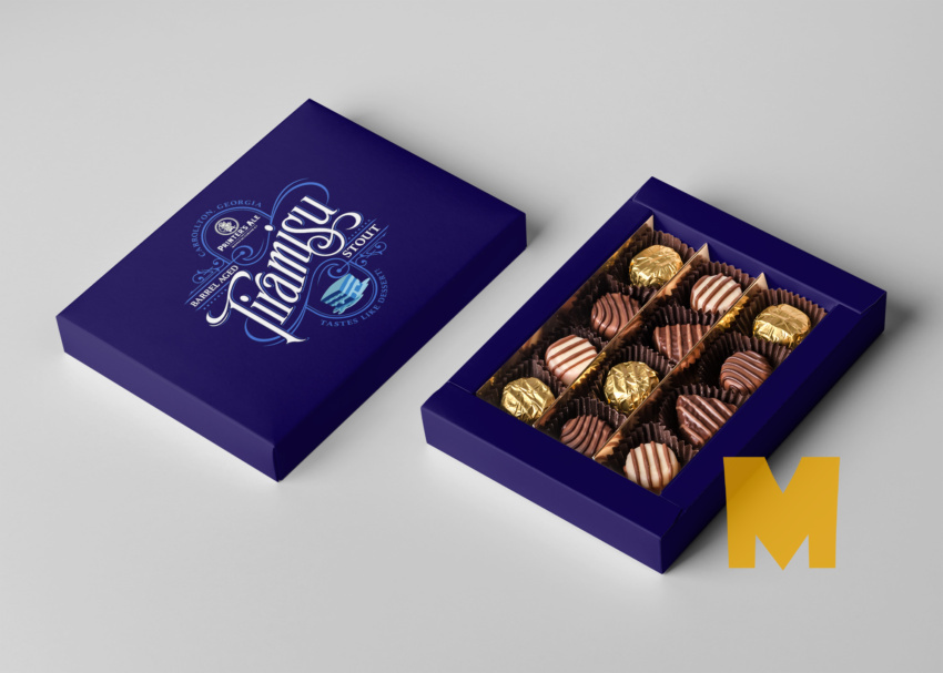 Free Sweet Chocolate Box Mockup