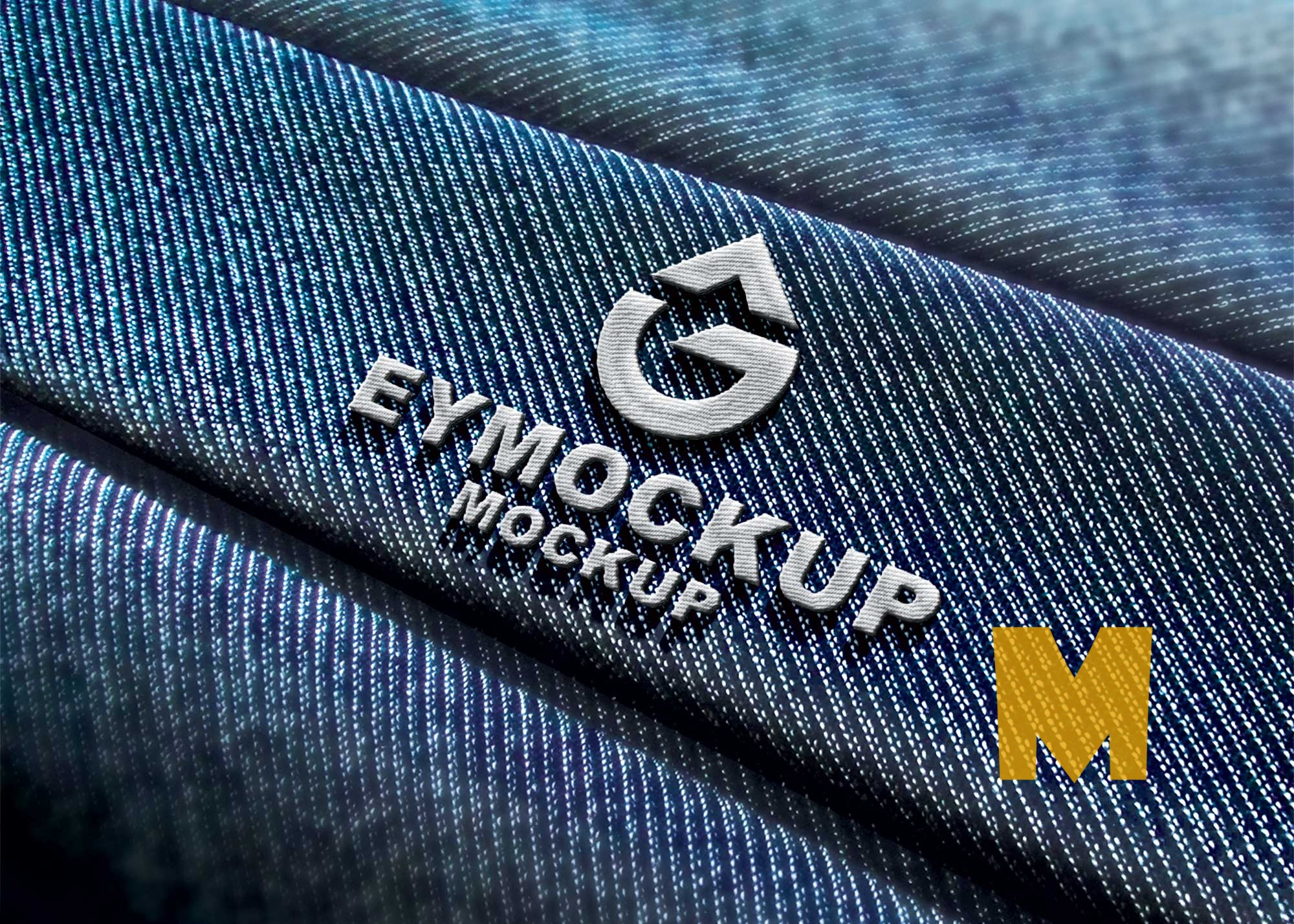 Jeans Embroidery Logo Mockup