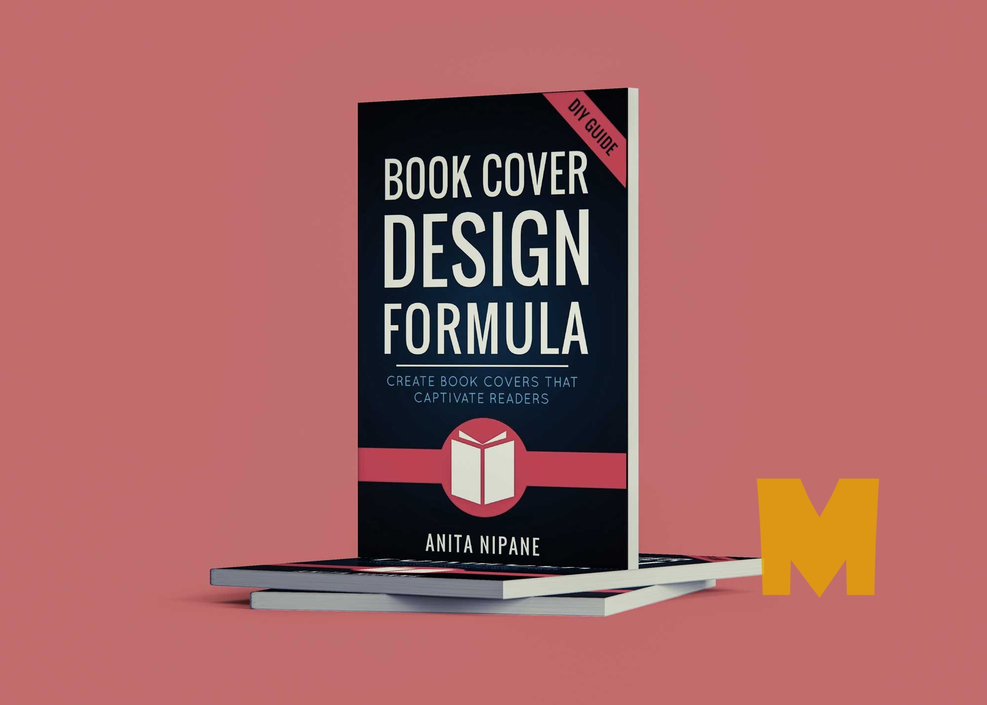 Free Cool Standing Book Cover Mockup