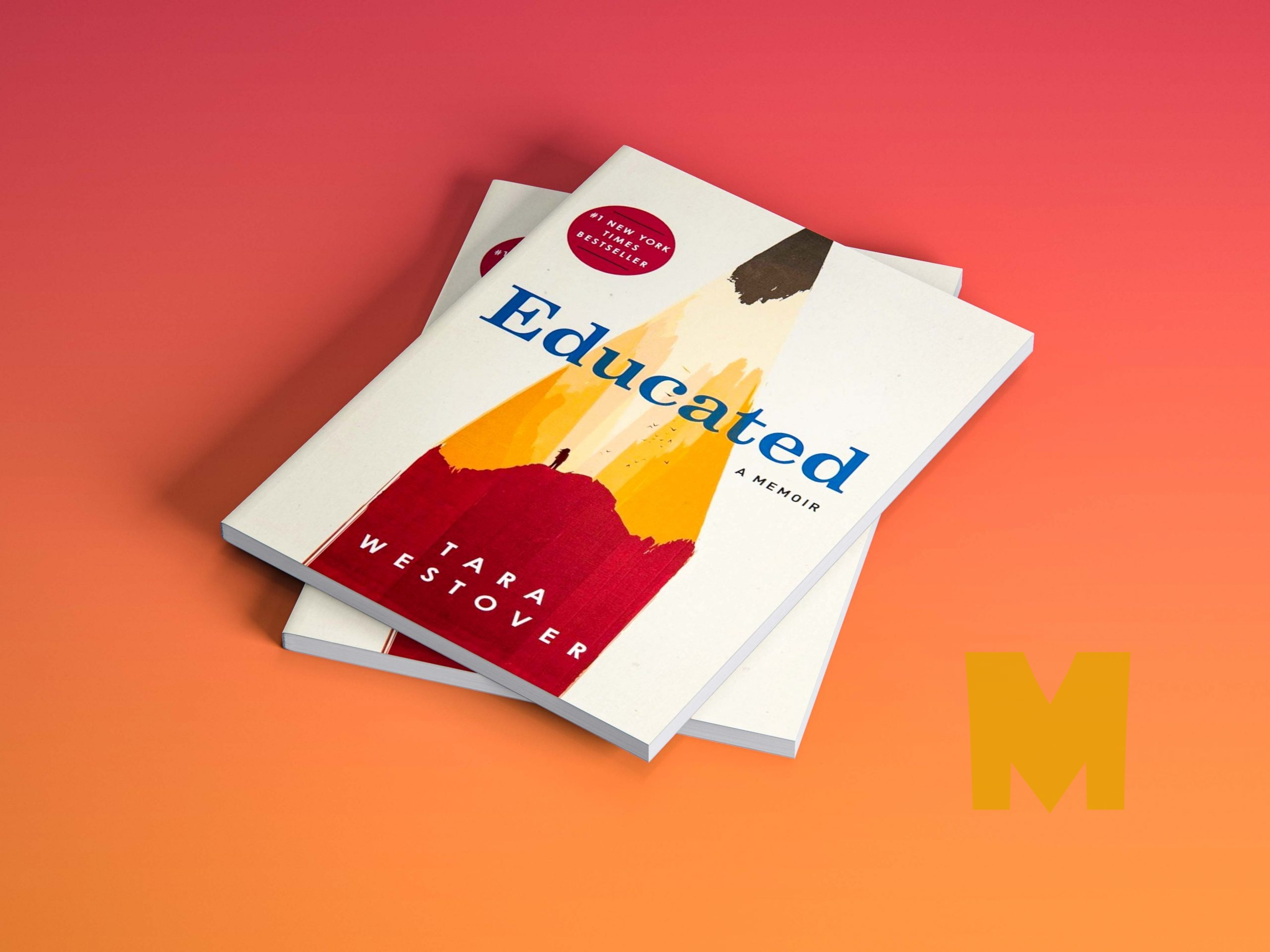 Free Paper Cool Book Cover Mockup