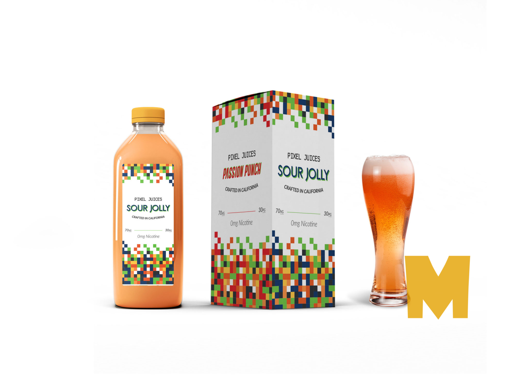 Sour Jelly Juice Packaging Label Mockup