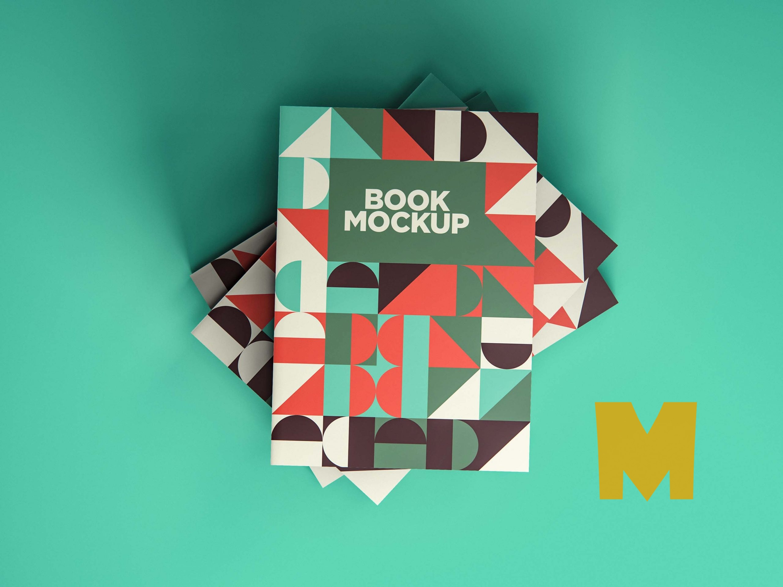 Colorful Notebook Mockup