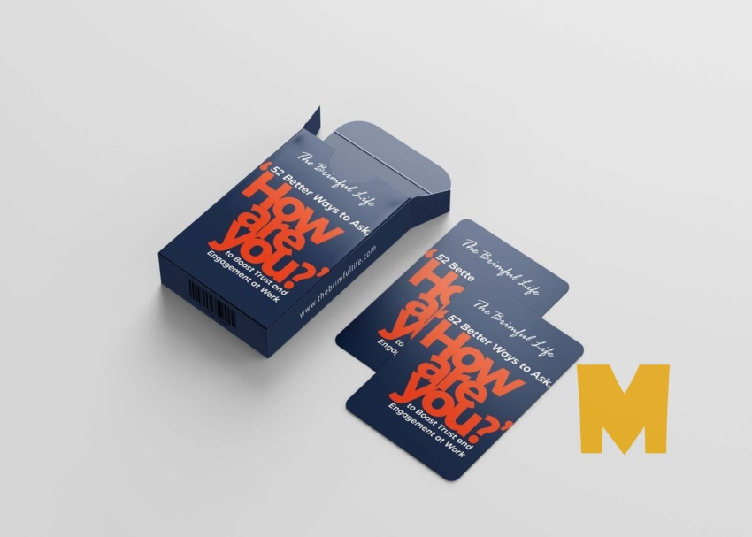 Playing Deck Cards Mockup