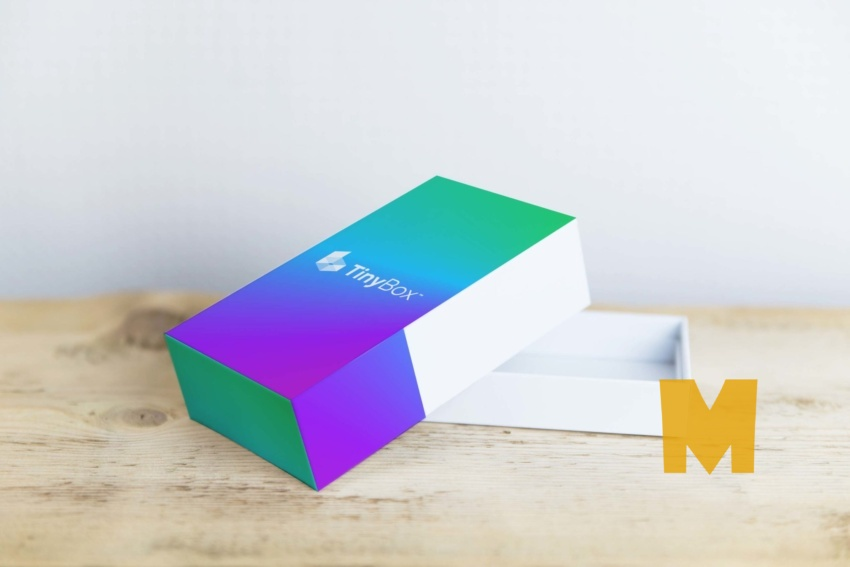 Screen Touch Mobile Box Packaging Mockup